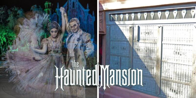 haunted mansion ghosts (left) poetess crypt (right