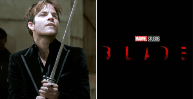 Stephen Dorff as Deacon Frost (left) Blade logo (right)