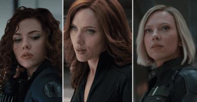 Three versions of Black Widow