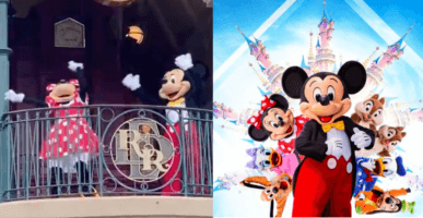 Minnie and Mickey dancing (left) / Mickey and friends (right)
