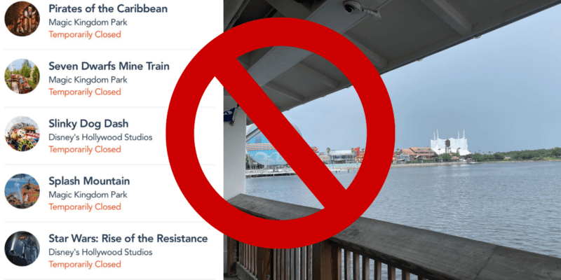 WDW storm and ride closures