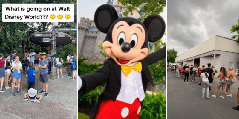 Long lines at WDW and Mickey Mouse