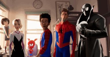 """Spider-Man variations in """"Spider-Man: Into the Spider-Verse"""" (2018)"""
