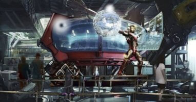 iron man coaster concept art