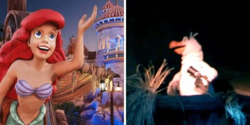 little mermaid ride (left) scuttle animatronic (right)