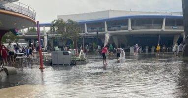 tomorrowland rain flood