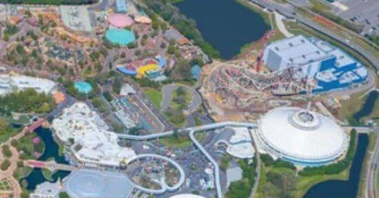 aerial photo magic kingdom