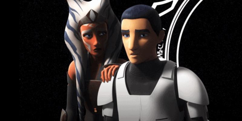 "Ahsoka Tano (Ashley Eckstein) left and Ezra Brigder (Taylor Gray) right in ""Star Wars: Rebels"""