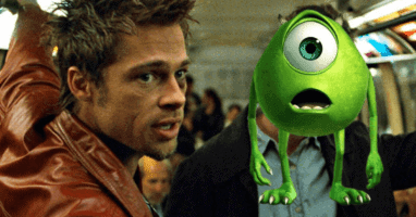 """Brad Pitt as Tyler Durden in """"Fight Club"""" (1999)"""