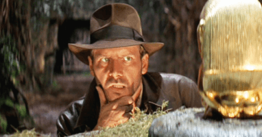 """Indiana Jones (Harrison Ford) in """"Raiders of the Lost Ark"""" (1981)"""