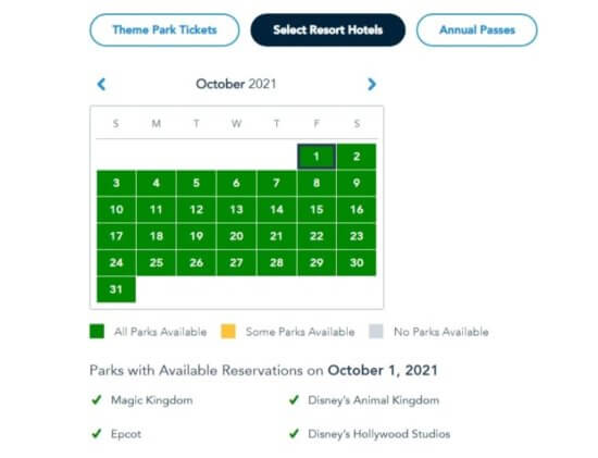 Park Pass for October