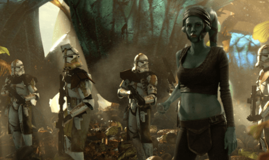 aayla secura with troopers