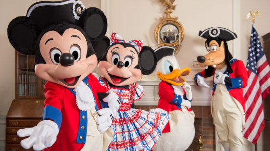 disney characters fourth of july