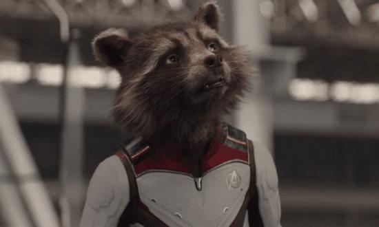 bradley cooper sean gunn as rocket raccoon in avengers endgame guardians of the galaxy