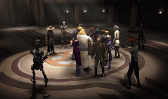 cad bane holds senators in clone wars hostage crisis
