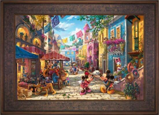 Thomas Kinkade Studios - Mickey and Minnie in Mexico
