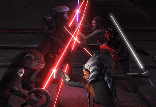 darth maul and ahsoka tano inquisitors battle
