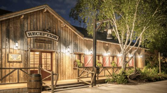 davy crockett ranch reception exterior