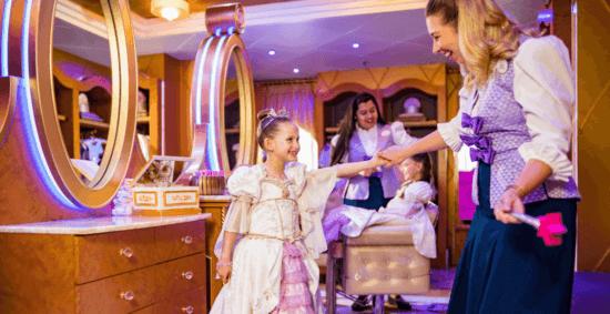 disney cruise line bibbidi bobbidi boutique rapunzel makeover