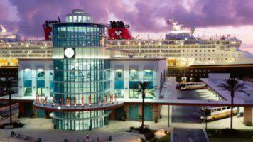 disney cruise line canaveral terminal exterior evening