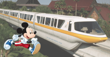 guy races monorail from polynesian header