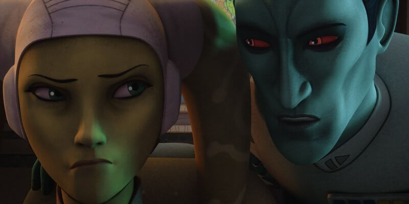 hera syndulla (left) and grand admiral thrawn (right) in star wars rebels