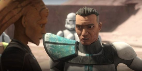 howzer (right) talking to cham syndulla (left) in the bad batch