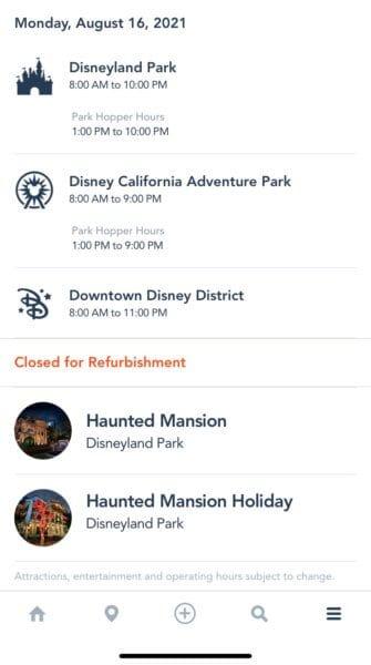 Haunted Mansion Holiday Disneyland App