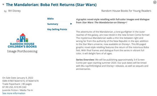 mandalorian book of boba fett returns graphic novel description