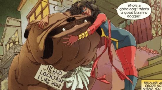 marvel comic lockjaw pet avenger kamala khan aka ms marvel inhuman