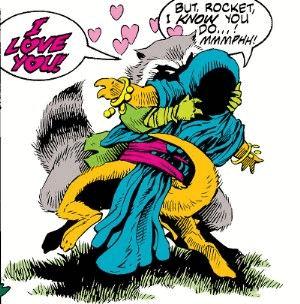 marvel comics rocket raccoon and lylla the otter