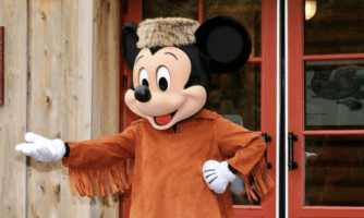 mickey mouse in frontier outfit
