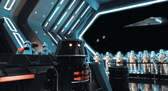 rise of the resistance stormtrooper room with r5 unit in foreground