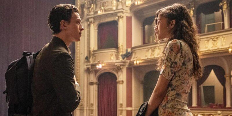 tom holland (left) and zendaya (right) in MCU spider-man trilogy