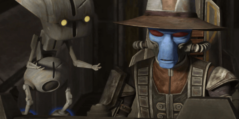 todo 360 (left) and cad bane (right) in the bad batch