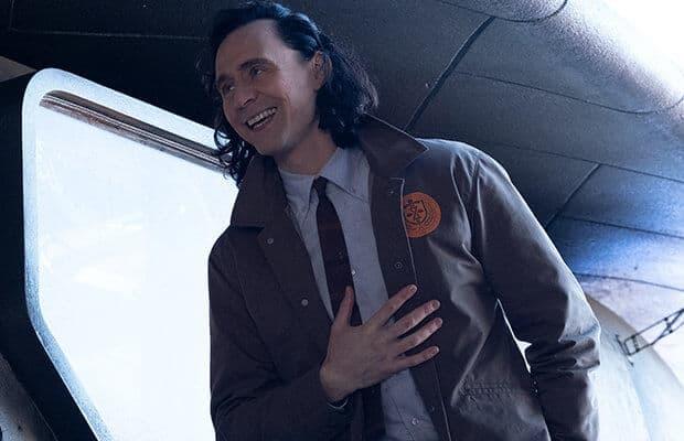 tom hiddleston as loki wearing TVA jacket