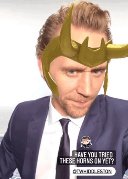 tom hiddleston using loki filter