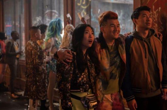 awkwafina, ronny chiung, and simu liu in shang chi