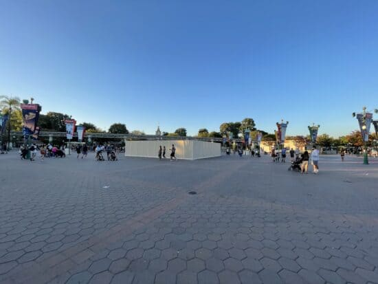 Construction in the disneyland esplanade