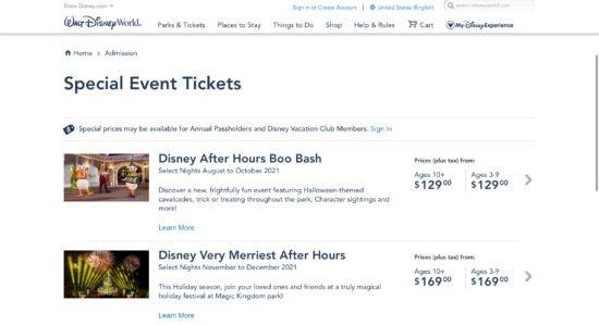 Disney very merriest after hours Tickets