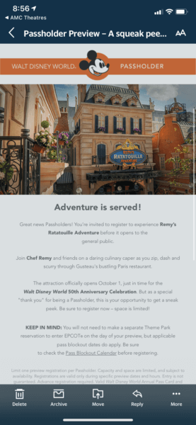 remys ratatouille preview email