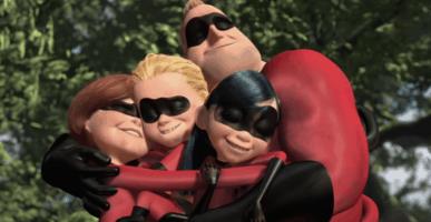 the incredibles family hug