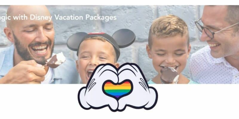 LGBTQ+ Family on WDW homepage
