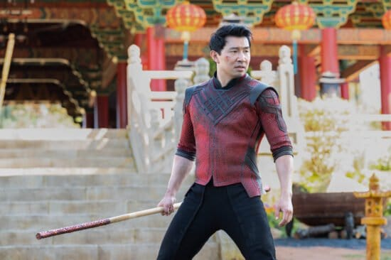 Simu Liu as Shang-Chi in Marvel Shang-Chi and the Legend of the Ten Rings