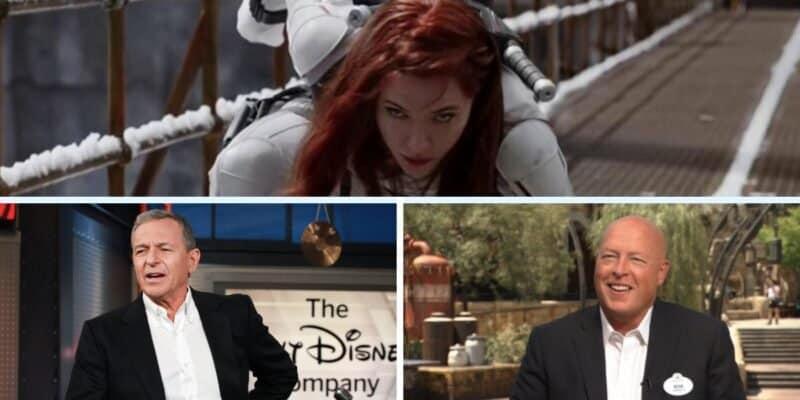 Scarlett Johansson, Bob Iger, Bob Chapek