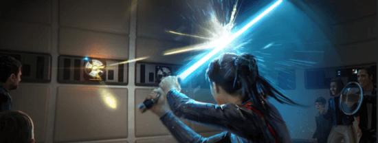 lightsaber experience art, galactic starcruiser