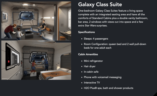 galaxy class stateroom details