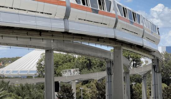 monorail tow truck at walt disney world