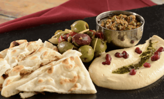 naan spread at Spice Road Table