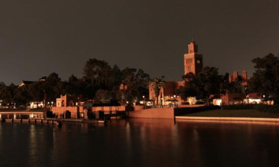 morocco pavilion no lights at night